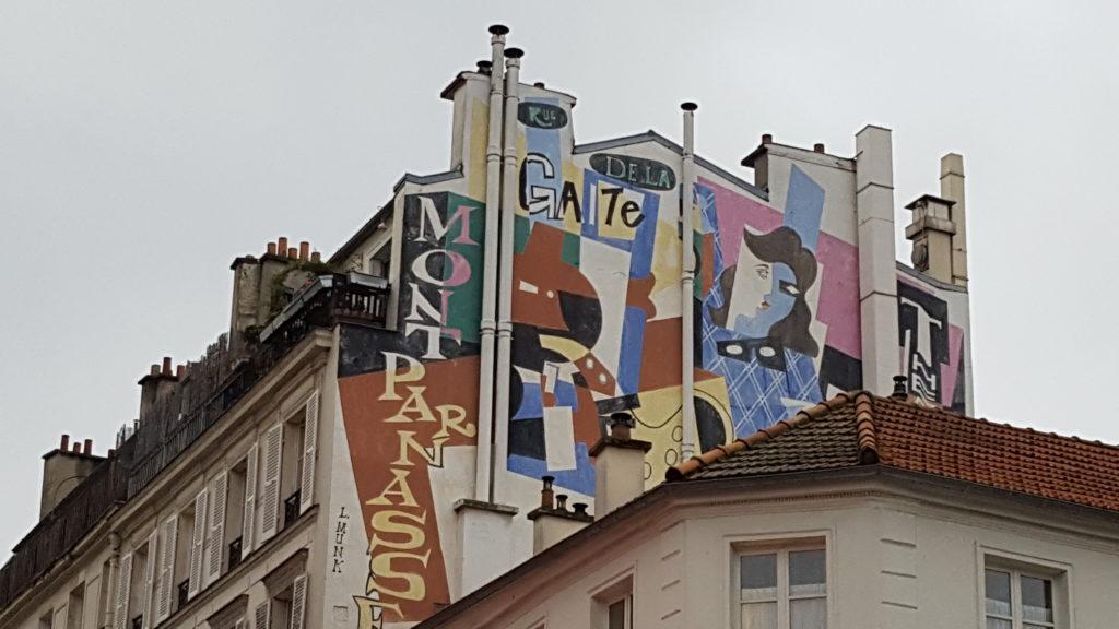 Fresque de la rue de la Gaité