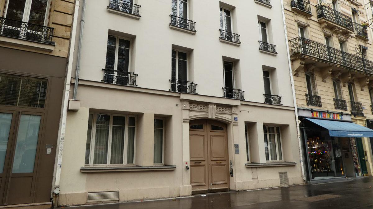 L'immeuble du 135 bd du Montparnasse aujourd'hui